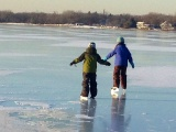 Skate on Lake Johanna This Sunday January 5th!  Community Skating Party from 1PM-3PM!